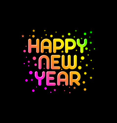 happy new year text template vector image