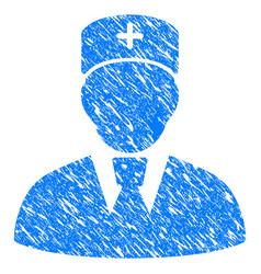 Head physician grunge icon vector