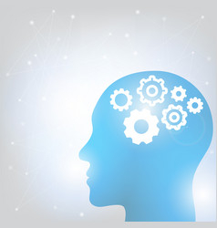Human head and brain vector