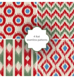 Ikat patterns vector