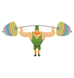 Leprechaun and barbell sports bench press barbell vector