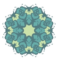Mandala on isolated background vector