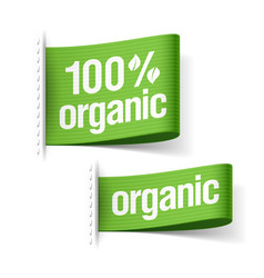 Organic product labels vector image vector image