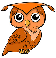 Owl bird cartoon animal vector