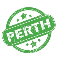 Perth green stamp vector