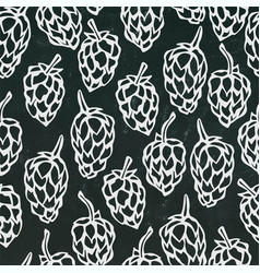 seamless with hops beer pattern isolated vector image vector image