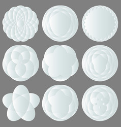 set of abstract white icons for design logos vector image vector image