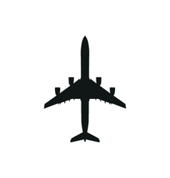 simple black Airplane icon on white background vector image vector image