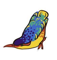 Sketch of bird watercolor vector