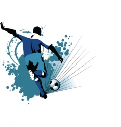 soccer europe in attack vector image vector image