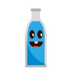 Soda bottle glass icon vector