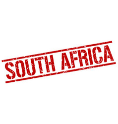 South africa red square stamp vector