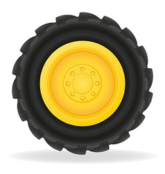 Wheel for tractor vector