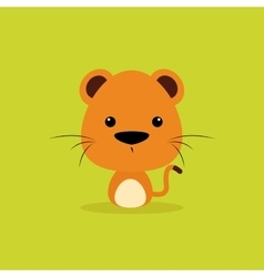 Cute cartoon wild tiger vector