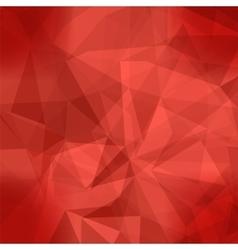Red Light Polygonal Mosaic Background vector image