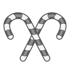 Candy canes icon black monochrome style vector
