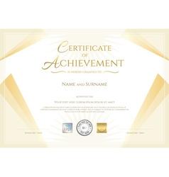 Modern certificate of achievement vector