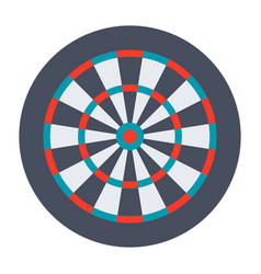 Dartboard for darts game vector