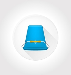 Flat icon for ice bucket challenge vector