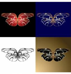 Jewelery butterflies vector