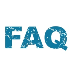 Faq grunge icon vector