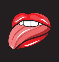 Pop art lips5 vector image