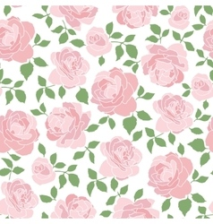 Romantic seamless pattern with roses vector