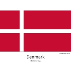 National flag of denmark with correct proportions vector