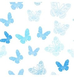Seamless pattern made of ice butterflies vector