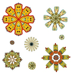 round set with mandala vector image