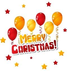 Merry Christmas Balloon Background vector image