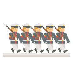 Flat design military parade vector