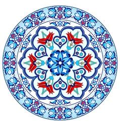 Antique ottoman turkish pattern design thirty vector