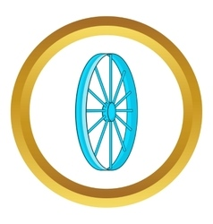 Bicycle wheel symbol icon vector