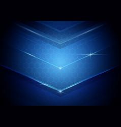 Blue abstract digital hi technology concept vector