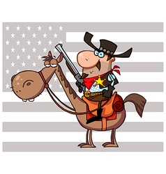 Cartoon cowboy vector image vector image