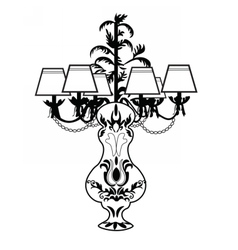 Classic Baroque exquisite lamp vector image