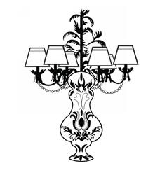 Classic baroque exquisite lamp vector
