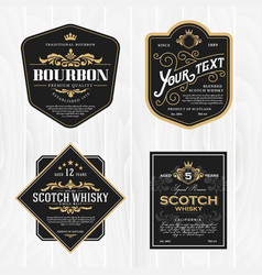 Classic vintage frame for whisky labels vector