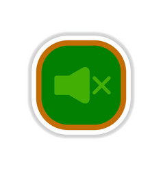 Color label design icon design button music sound vector