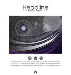cover design template with futuristic future sci vector image vector image