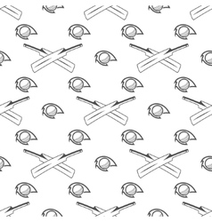 Cricket sport pattern retro background seamless vector