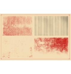 Grunge textures set background vector