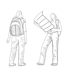 Hand drawn tourist sketch vector image