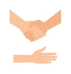 handshake human help icon vector image