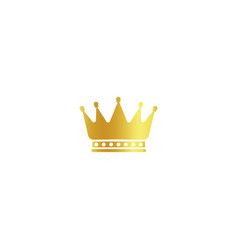 Isolated golden color crown logo on white vector