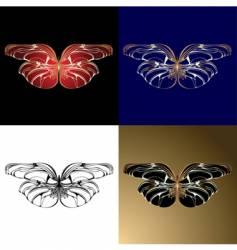 Jewelery butterflies vector
