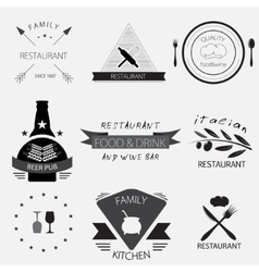 Label logo or menu design for restaurant or vector image vector image