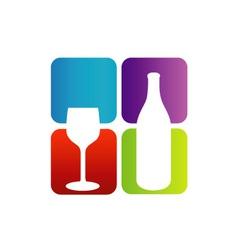 Logo for beverage business vector image