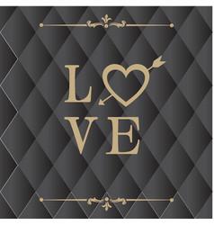 Love retro square black background image vector